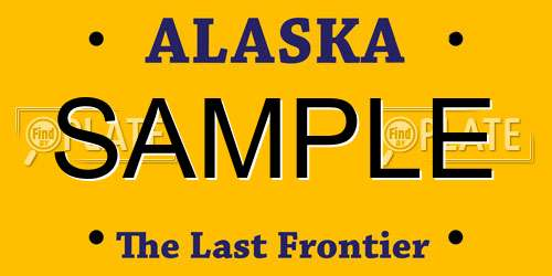 Sample Alaska License Plate