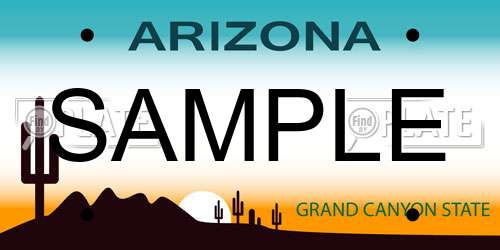 Sample Arizona License Plate