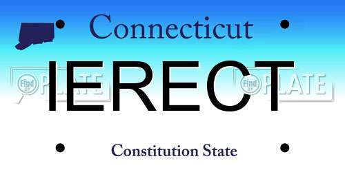 IERECT Connecticut License Plate