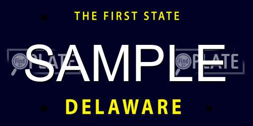 Sample Delaware License Plate