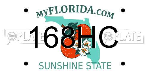 168HC license plate in FL state