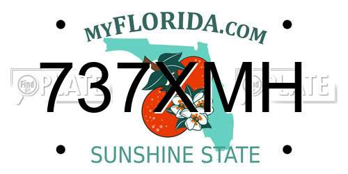 737XMH license plate in FL state