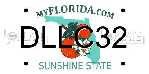 DLLC32 license plate in FL state