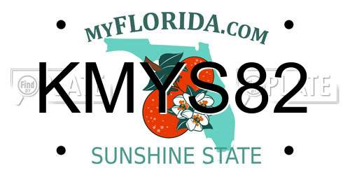 KMYS82 license plate in FL state
