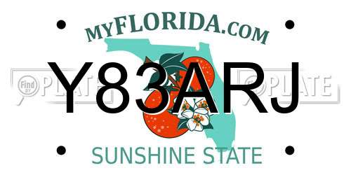 Y83ARJ license plate in FL state