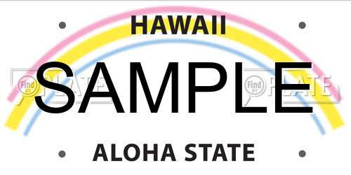 Sample Hawaii License Plate