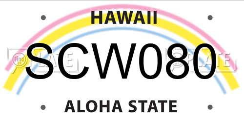 SCW080 license plate in HI state