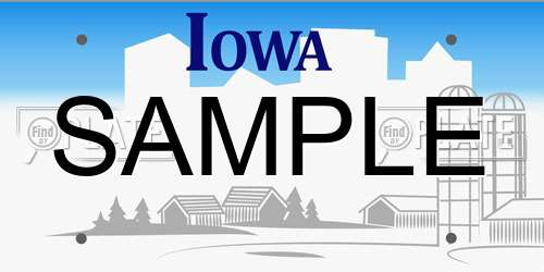 Sample Iowa License Plate