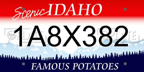 1A8X382 Idaho License Plate