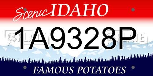 1A9328P Idaho License Plate