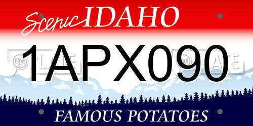 1APX090 Idaho License Plate