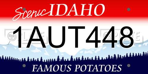 1AUT448 license plate in ID state