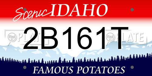 2B161T Idaho License Plate