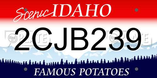 2CJB239 Idaho License Plate
