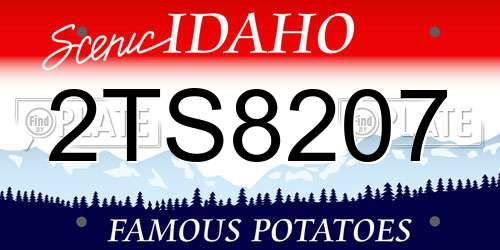 2TS8207 Idaho License Plate