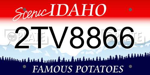 2TV8866 Idaho License Plate