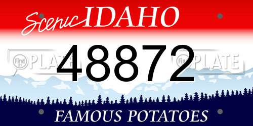 48872 Idaho License Plate