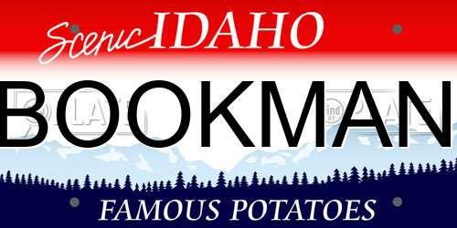 BOOKMAN Idaho License Plate