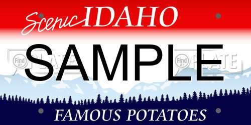 Sample Idaho License Plate