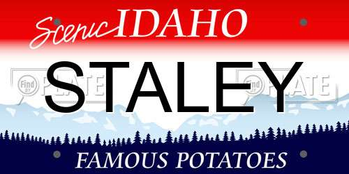 STALEY Idaho License Plate