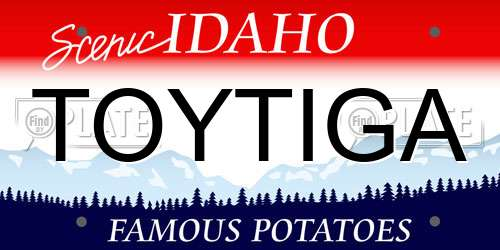 TOYTIGA Idaho License Plate