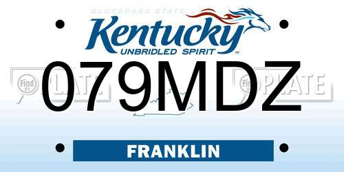 079MDZ Kentucky License Plate