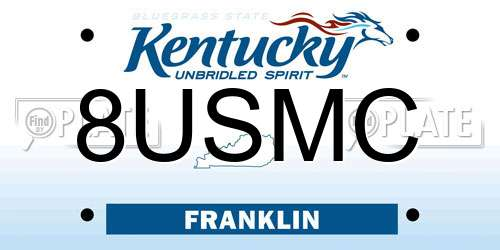 8USMC Kentucky License Plate