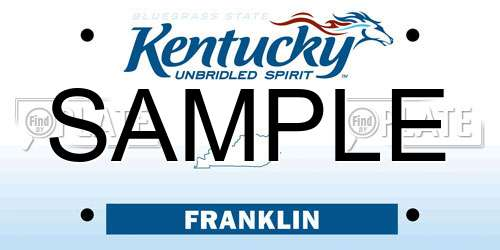 Sample Kentucky License Plate