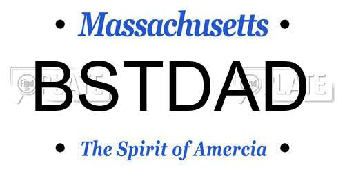 reports for plate number bstdad in massachusetts, united states