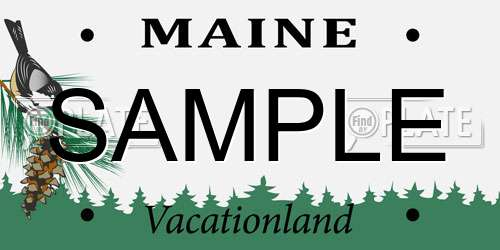 Sample Maine License Plate