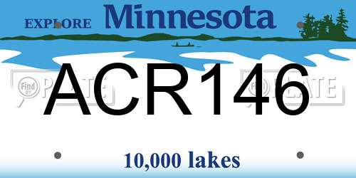 ACR146 license plate in MN state