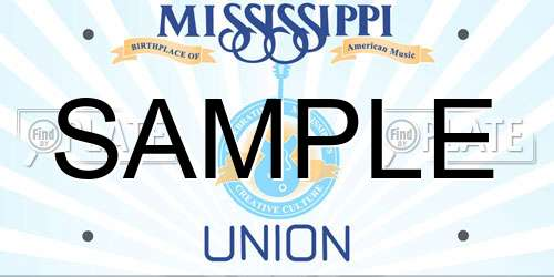 Sample Mississippi License Plate
