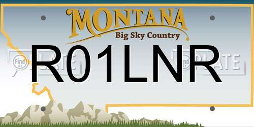 R01LNR license plate in MT state