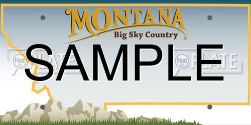 Sample Montana License Plate