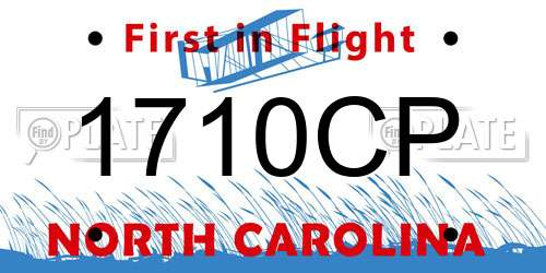 1710CP North Carolina License Plate