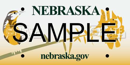 Sample Nebraska License Plate