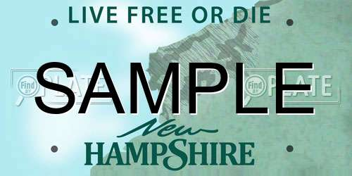Sample New Hampshire License Plate
