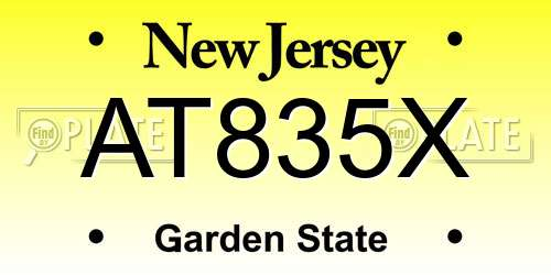 AT835X New Jersey License Plate
