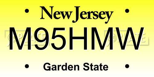 M95HMW New Jersey License Plate