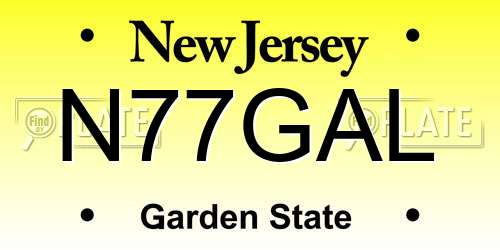 N77GAL New Jersey License Plate