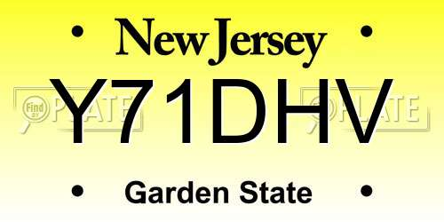Y71DHV New Jersey License Plate