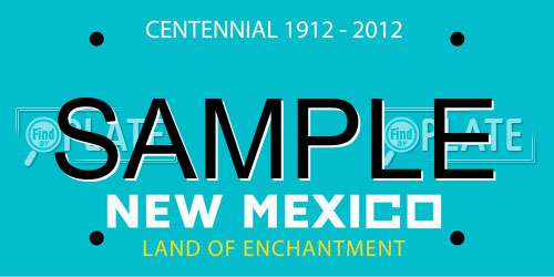 Sample New Mexico License Plate
