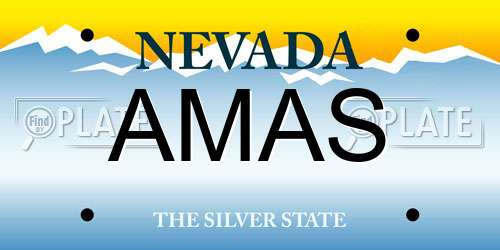AMAS Nevada License Plate