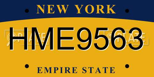 HME9563 license plate in NY state