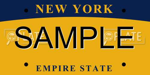 Sample New York License Plate