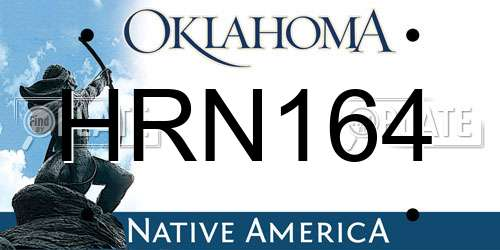 HRN164 license plate in OK state