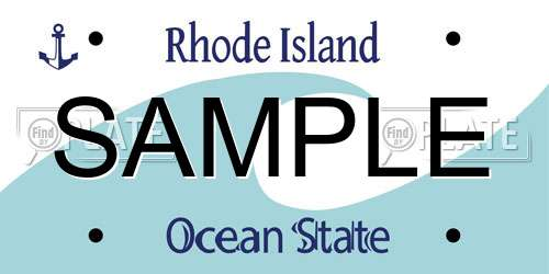Sample Rhode Island License Plate