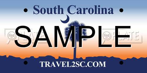 Sample South Carolina License Plate