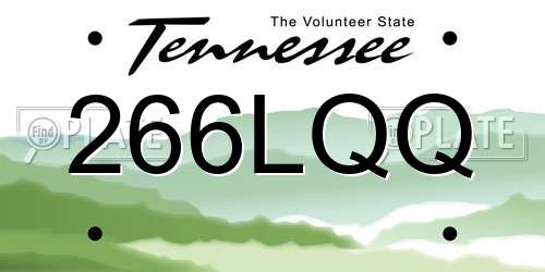 266LQQ Tennessee License Plate