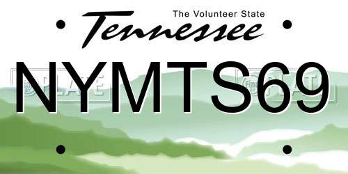 NYMTS69 Tennessee License Plate